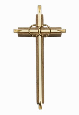 Oak & Metal Catholic Cana Wedding Cross