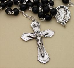 Image of Black Cocoa Bead Men's Rosary