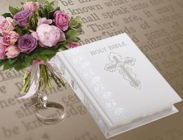 Publishers Image of White Catholic Wedding Bible NABRE
